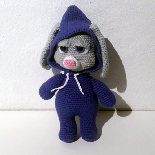 Hæklet kanin - Bella | 100% bomuld