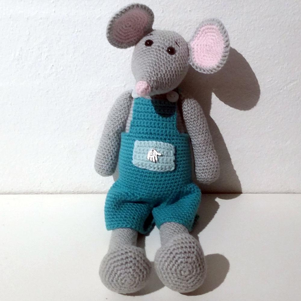Hæklet mus | 100 Bomuld