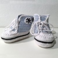 Hæklet Converse sko | 100% Bomuld