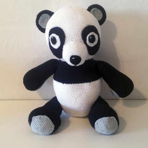 Hæklet Panda | 100% bomuld