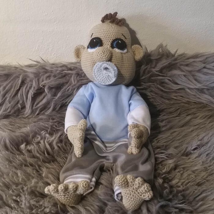 Hæklet Baby Dreng | 100% bomuld