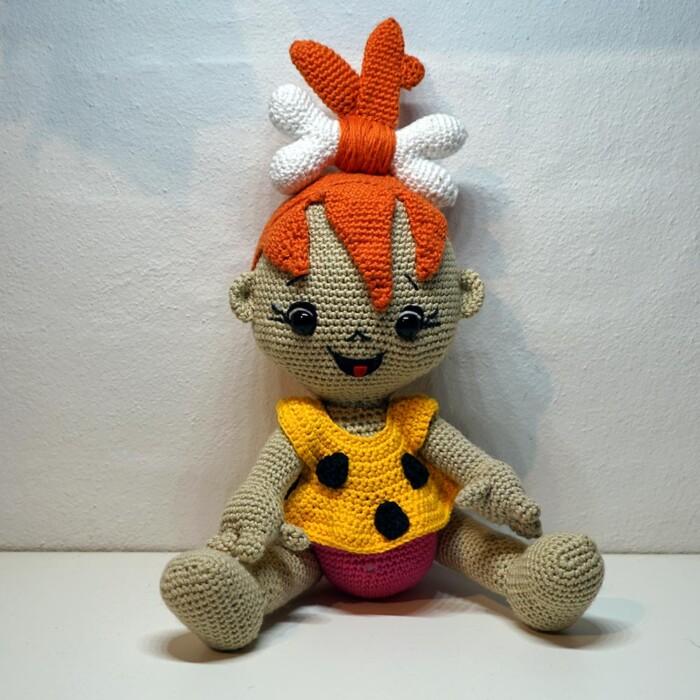 Hæklet Flisbeth Flintstone