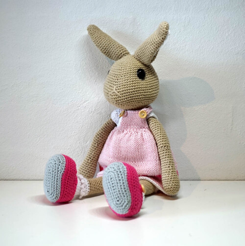 Hæklet kanin Sille